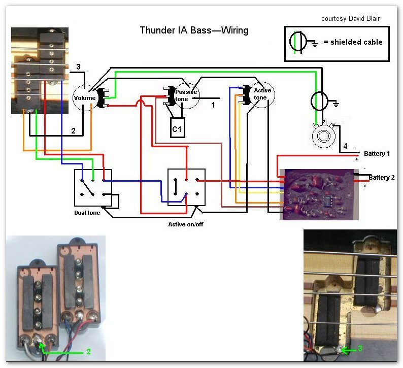 Thunder IA Bass wiring thunder ia bass westone guitars the home of westone westone thunder 1a wiring diagram at fashall.co
