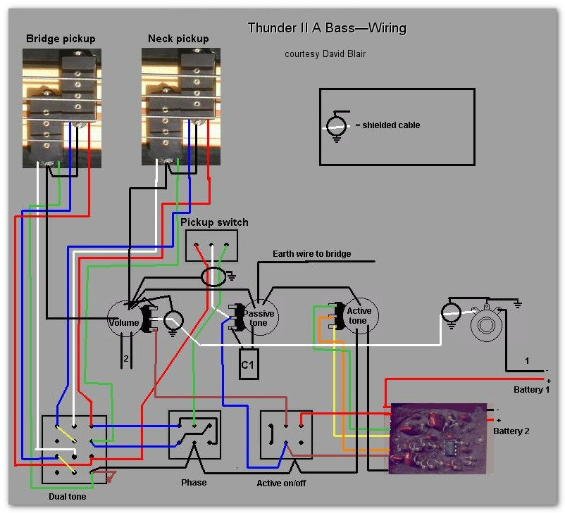 Wiring Diagram Active Bass Pickup : Westone guitar wiring diagram get free image about