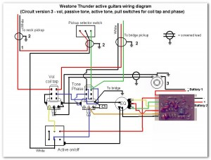 thunder series active models westone guitars  at Westone Thunder 1a Wiring Diagram